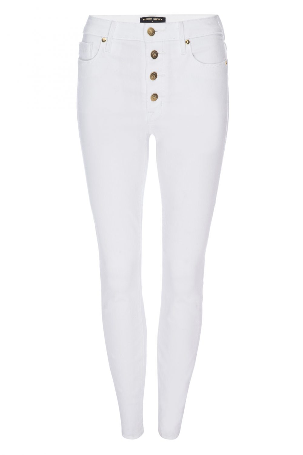 BUTTON-FLY BOMBSHELL IN BLANC